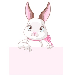 Easter Bunny Pointing Down vector image vector image