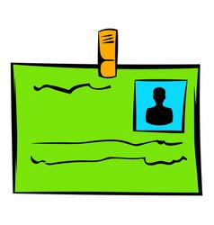 identification card icon icon cartoon vector image