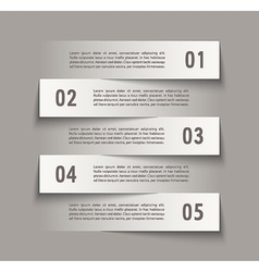 Infographic design with paper creative lines vector image vector image