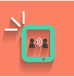 Phone tablet communication icon vector image