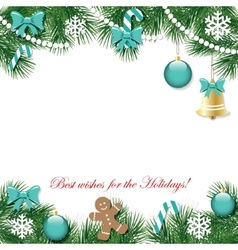 Christmas and New Year decorative background vector image vector image