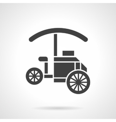 Coffee trolley glyph style icon vector image