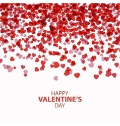 Happy Valentines day card hearts vector image vector image