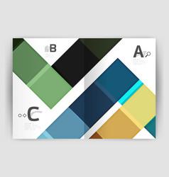 modern geometrical a4 flyer brochure vector image vector image