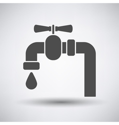 Pipe with valve icon vector image