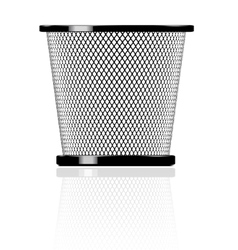 realistic glossy trash vector image vector image