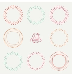 Set of colorful arrows frames Trendy hand drawn vector image vector image