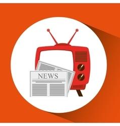 tv radio vintage news concept vector image