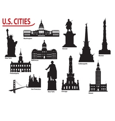 US cities vector image vector image