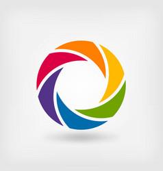 abstract symbol rainbow circle vector image