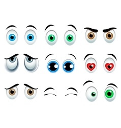 Cartoon eyes set vector image