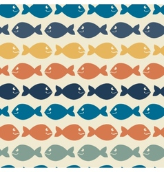 Color abstract fish patternBackgroundVintage vector image