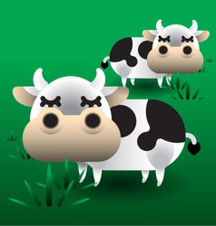 Cows on grass vector image vector image