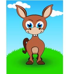 donkey cartoon vector image