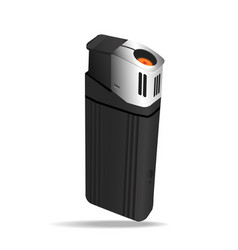 realistic black lighters vector image vector image