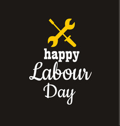 1 may - labour day international workers day vector image