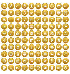 100 set gold vector