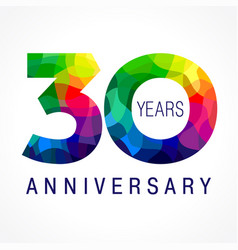 30 anniversary color logo vector