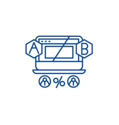 ab testing line icon concept ab testing flat vector image