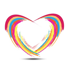 abstract rainbow heart design vector image