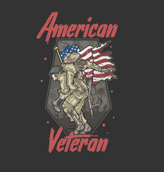 american army brotherhood veteran vector image