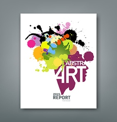 Annual report colorful ink splash and shape face vector image