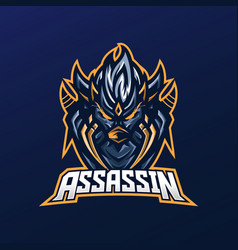 assassin mascot logo vector image