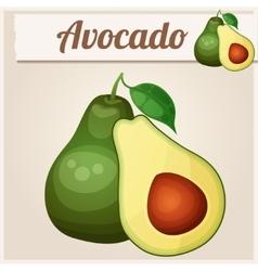 Avocado 2 cartoon icon series food and vector