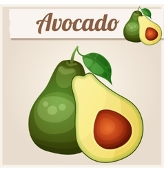 Avocado 2 Cartoon icon Series of food and vector image