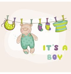 babear shower or arrival card vector image