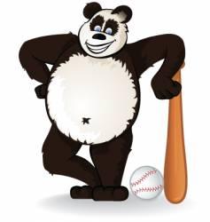 Baseball panda vector