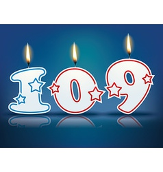 Birthday candle number 109 vector