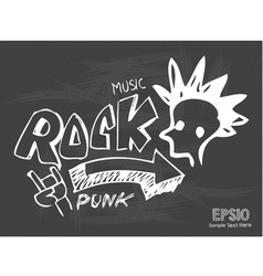 Blackboard Love Rock Music vector image