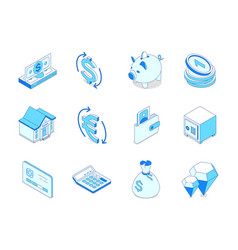 business and finance - modern isometric icons set vector image