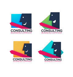 business consulting company logo label symbol vector image