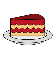 cake flat vector image vector image