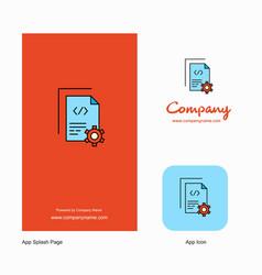 coding company logo app icon and splash page vector image