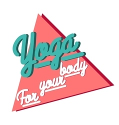 Color vintage yoga emblem vector image