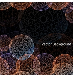 Concentric colored circles background vector