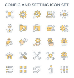 Config setting icon vector