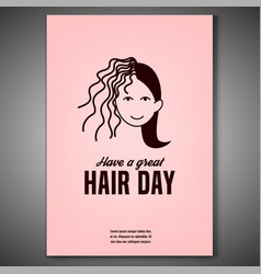 crazy hair day poster vector image