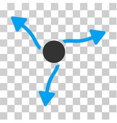 curve arrows icon vector image