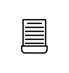 cut document icon can be used for web logo mobile vector image