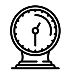 Desktop stand clock icon outline style vector