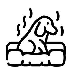 Dog smell line icon line vector
