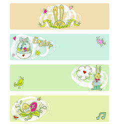 easter doodle color templates vector image
