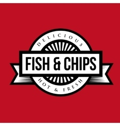 Fish and Chips vintage stamp vector