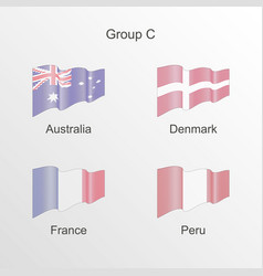 Flag group c world football championship vector
