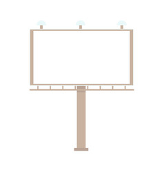 Flat urban outdoor empty billboard isolated vector