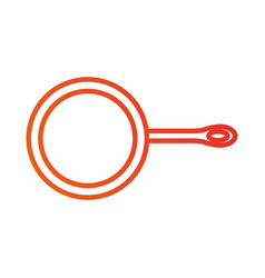Frying pan kitchen utensil for cooking food vector
